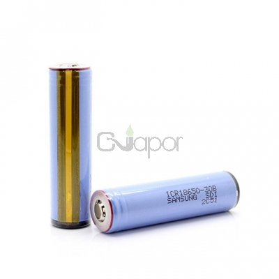 2pcs Samsung ICR18650-30B 4.35V 3000mAh Flat Top Rechargeable Li-ion Battery