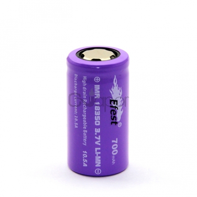 10.5A 18350 700mah High Drain Rechargeable Battery Flat Top (