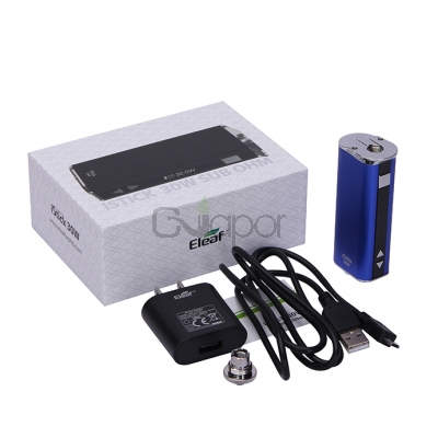 Eleaf iStick 30W VV/VW Mod with Wall Charger and USB Cable