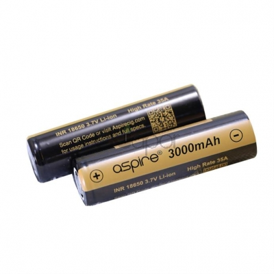 2PCS Aspire INR 18650 3.7V High Rate 35A 3000mah Li-ion Battery