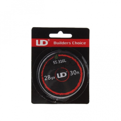 Youde UD Stainless Steel 316L Resistance Wire 28ga with 0.32mm Wire Diameter* 30 Feet (10m/roll)