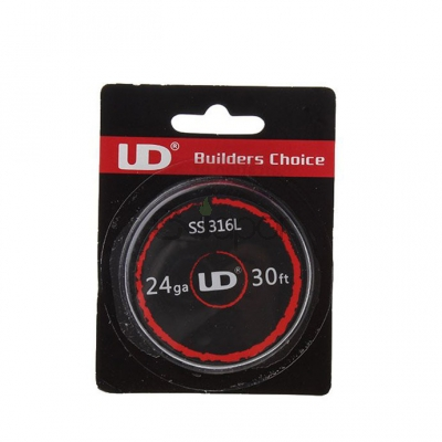 Youde UD Stainless Steel 316L Resistance Wire 24ga with 0.5mm Wire Diameter* 30 Feet (10m/roll)