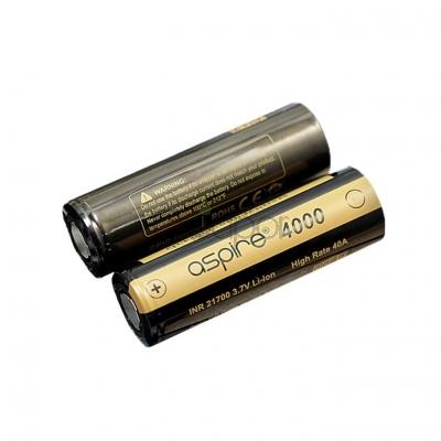 2PCS Aspire INR 21700 3.7V High Rate 40A 4000mah Li-ion Battery