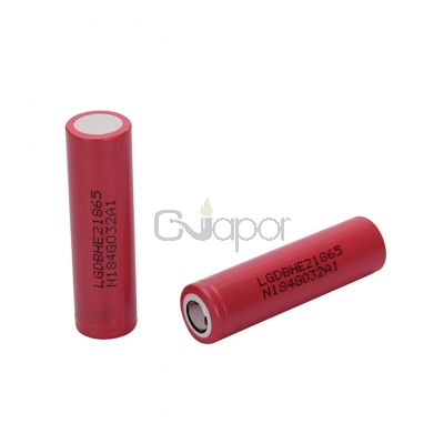 2pcs LG HE2 18650 3.7V 2500mAh 35A Rechargeable Flat Top batteries