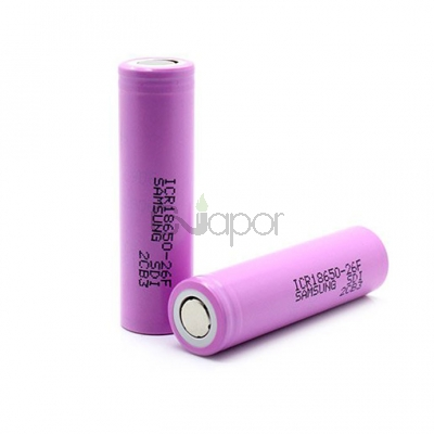 2pcs Samsung ICR18650-26F 2600mah 3.7V Rechargeable Li-ion Battery