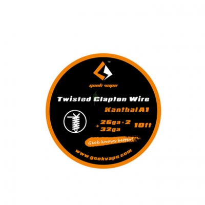 Geekvape  26ga*2+32ga  Kanthal A1 Twisted Clapton Wire 10ft/roll