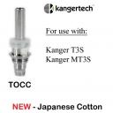 New Kangertech TOCC Japanese Cotton T3S MT3S Coils - 5pcs