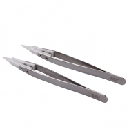 Youde UD Ceramic Tip Tweezers Heat Resistant Stainless Steel Sharp Tip Tweezers for E-Cigarettes