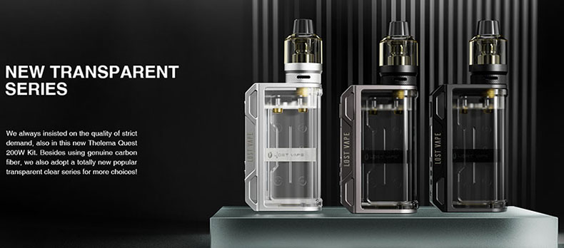 Lost Vape Thelema Quest Kit Clear Mod