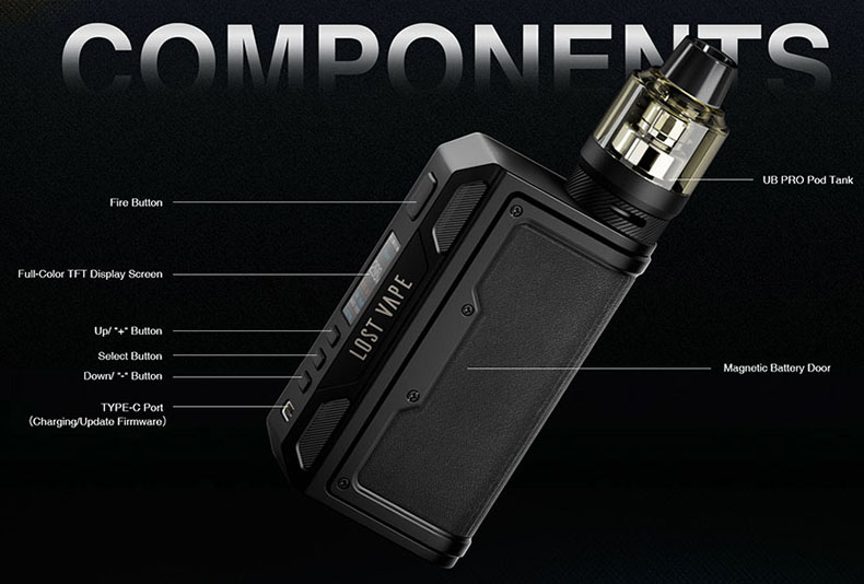 Lost Vape Thelema Quest Kit Components