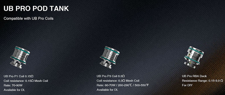Lost Vape Thelema Quest Kit UB Pro Coil