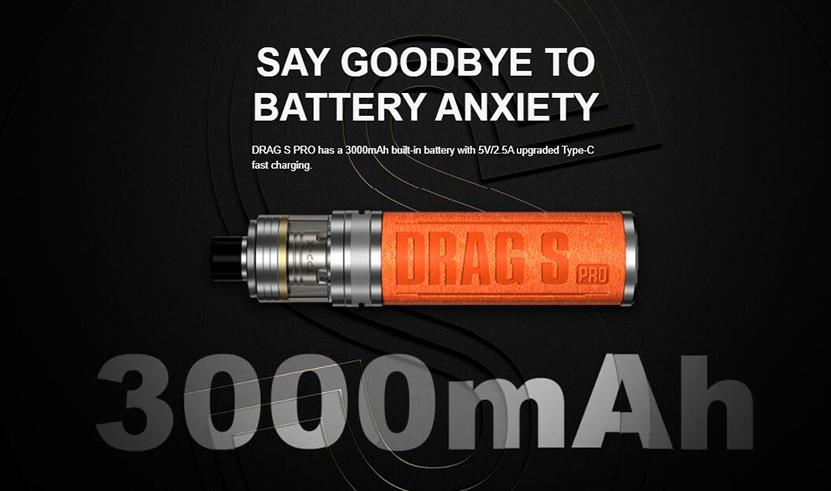 VOOPOO Drag S Pro Kit 3000mAh Battery