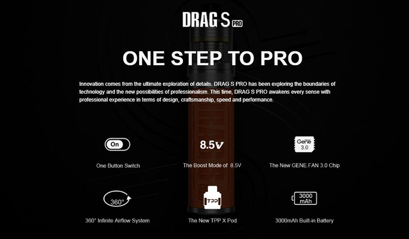 VOOPOO Drag S Pro Kit Features