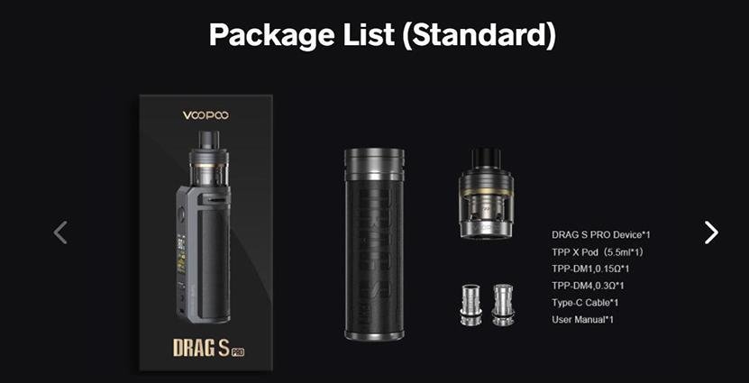 VOOPOO Drag S Pro Kit Package List