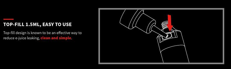 Fush Nano Vape Pod System Kit Top Filling