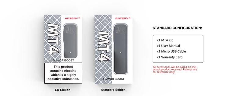 Artery MT4 Pod Kit Package