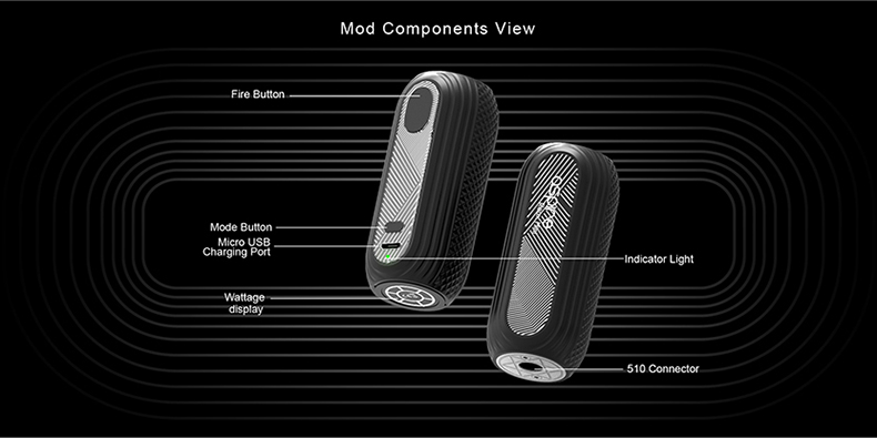 Aspire Reax Mini Vape Mod Components View