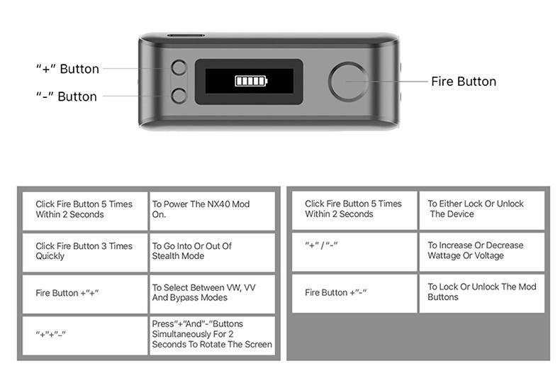 Aspire Rover 2 Kit 40W Button