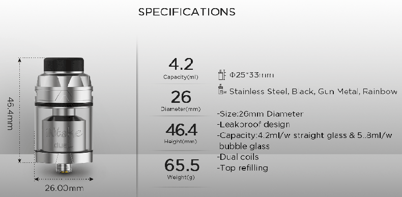 Intake Dual RTA  Specification