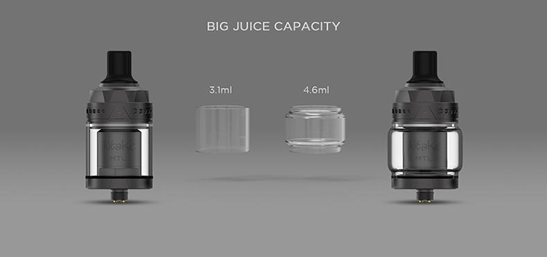 Augvape Intake MTL Atomizer Juice Capacity