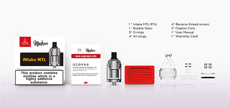 Augvape Intake MTL RTA Package