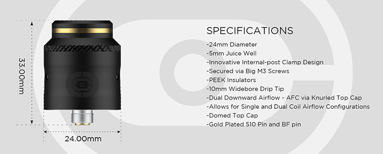 Augvape Occula RDA Specifications