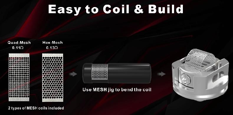 Damn Vape DOOM Mesh RTA Coil Build