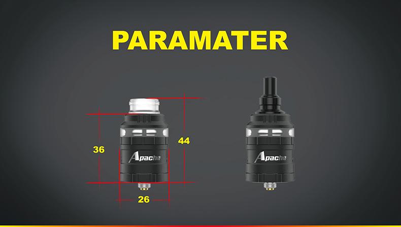 Damselfly Apache RDA Rebuildable Dripping Atomizer Parameters