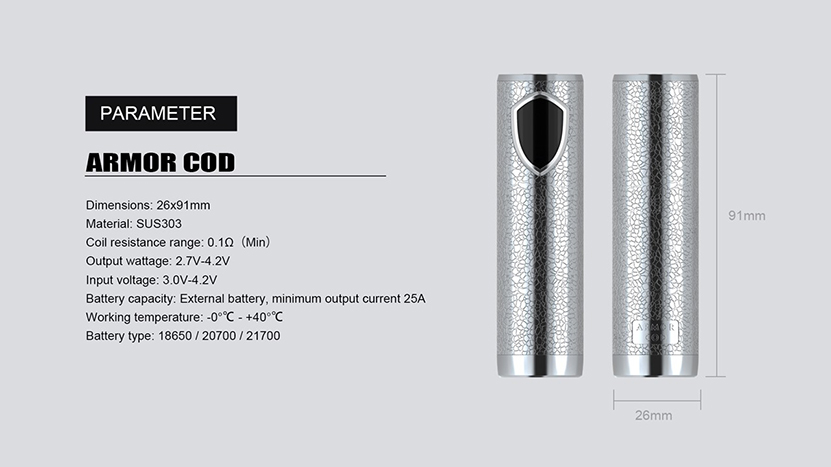 Armor COD TC Mod Specification
