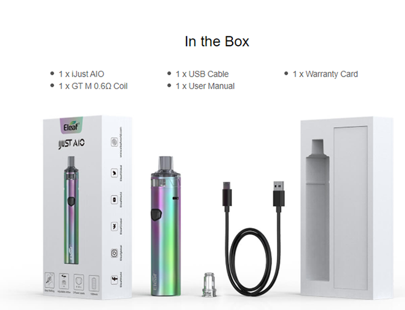 Eleaf iJust AIO Pod System Kit Package