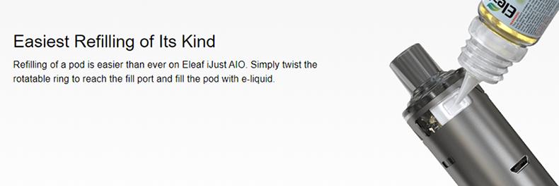 Eleaf iJust AIO Pod Kit Refliing