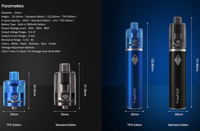 Freemax GEMM 80W Starter Kit Features