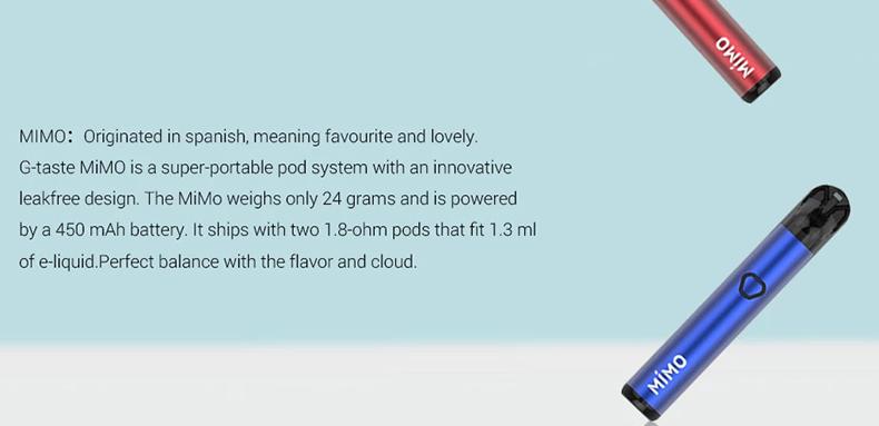 G-taste Mimo Pod Vape Kit Introduction