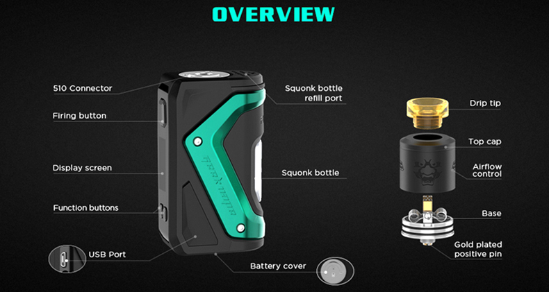 GeekVape Aegis Squonker Kit Overview