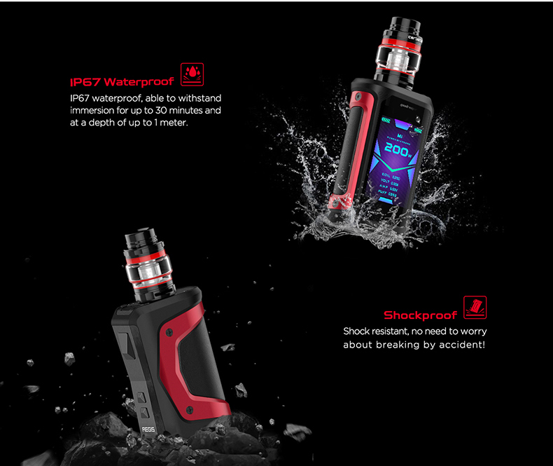 GeekVape Aegis X Kit Waterproof and Shockproof