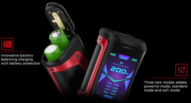 Aegis X TC Mod Battery Balancing Charging