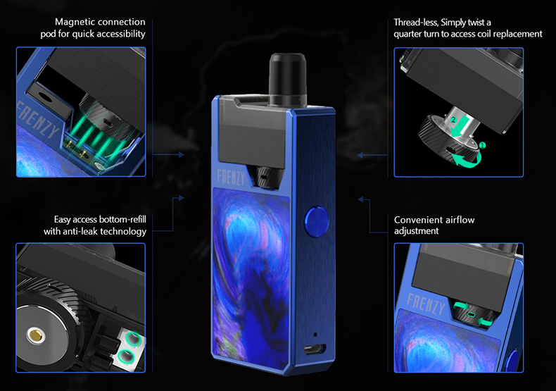 GeekVape Frenzy Pod Kit Features