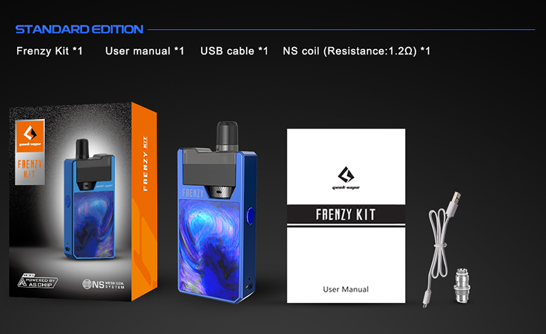 GeekVape Frenzy Vape Pod Kit Includes