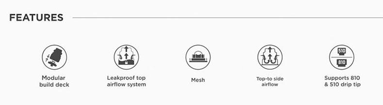 GeekVape Zeus X Mesh RTA Atomizer Features