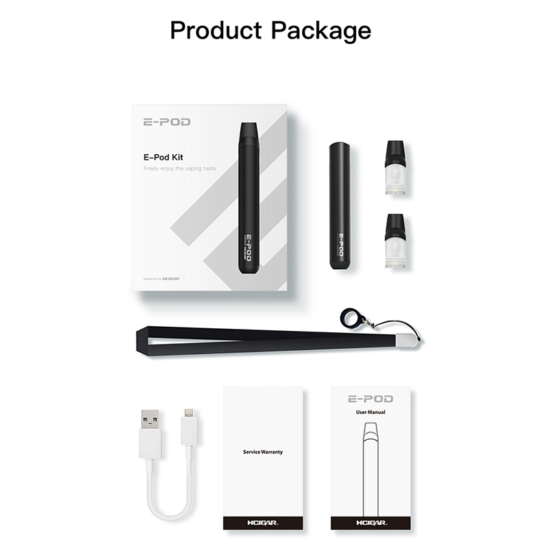 Hcigar E-Pod System Kit Package