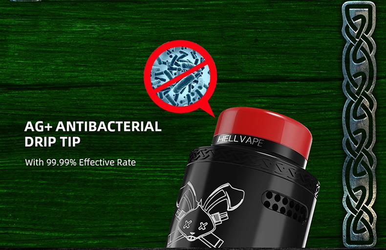 Dead Rabbit V2 BF RDA Antibacterial Drip Tip