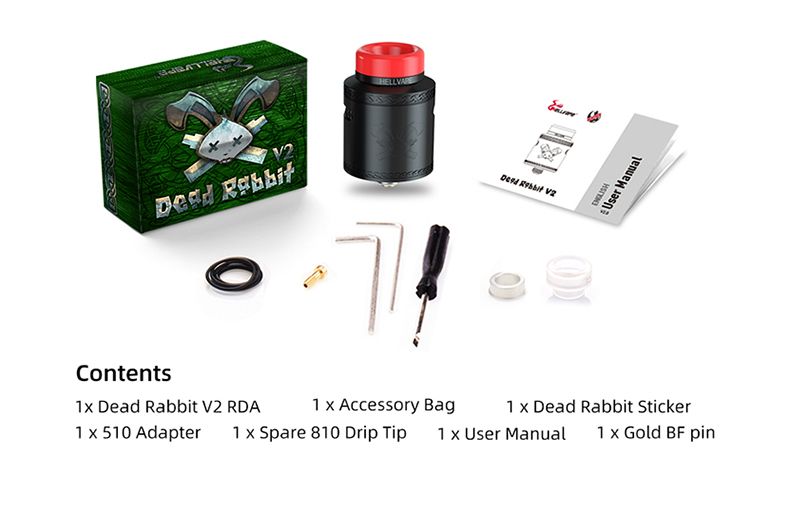 Dead Rabbit V2 RDA Atomizer Package