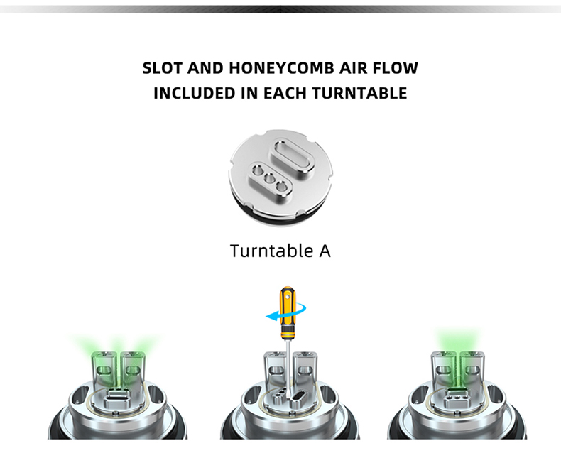 Hellvape MD RTA Tank Atomizer Turntable A