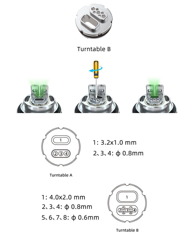 Hellvape MD RTA Tank Atomizer Turntable B