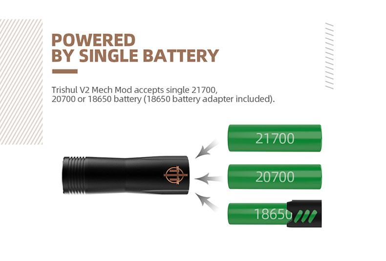 Trishul V2 Mech Mod Battery
