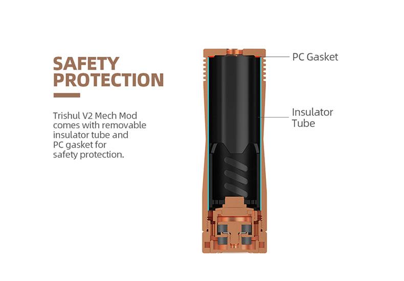 Hellvape Trishul V2 Mech Mod Battery Protections