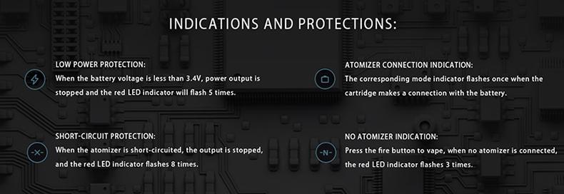 IJOY Aria 22W Pod Kit Protections