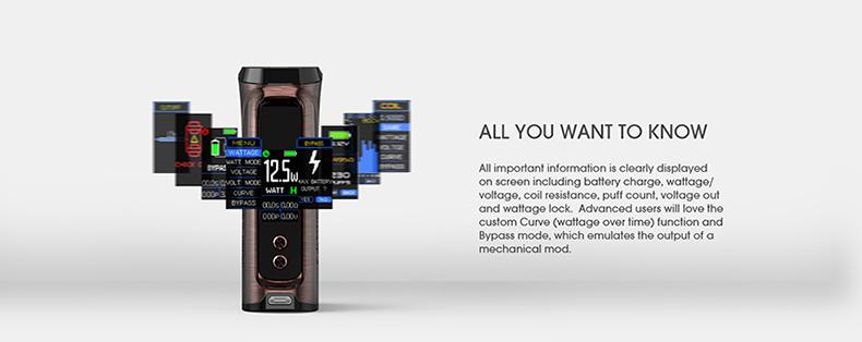 Innokin Kroma-R VV VW Mod OLED Screen