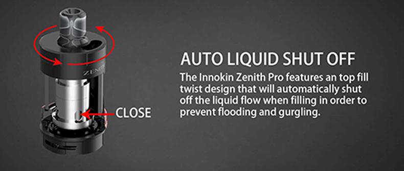 Innokin Zenith Pro Vape Tank Auto Liquid Shut Off