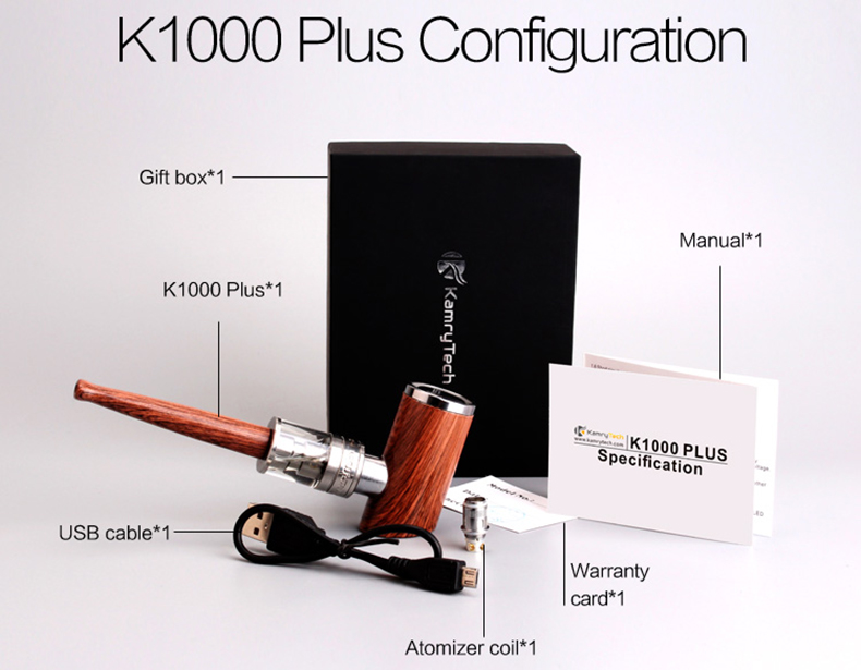 Kamry K1000 Plus ePipe Starter Kit Includes